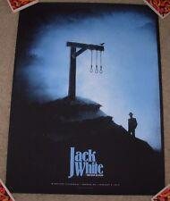 JACK WHITE concert gig tour poster NORMAN 2-2-15 2015 LAZARETTO stripes third