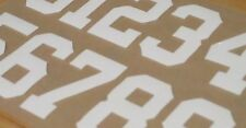 """GIANTS """"Style"""" Football Helmet Numbers Decals FULL SIZE (2) Sheets 3M 20MIL"""