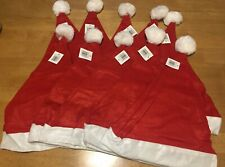 10 X Santa Hats Adult Size Christmas Party Stag Do Hen Party