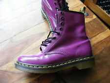 Purple Leather Ladies Womens Girls Dr Martens 11821 Ankle Boots UK 5 EU 38 US 7