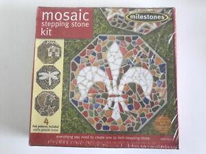 Milestones Mosaic Stepping Stone Kit, Makes a 12-Inch Stone