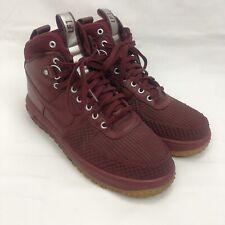 Nike Lunar Force 1 Duckboot, 805899-600, TEAM RED- CLEAN Men's Size 10 Winter