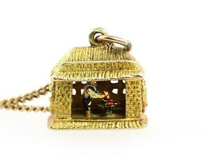 VINTAGE 1960'S 9CT GOLD MARRIED OVER THE ANVIL GRETNA GREEN BLACKSMITH CHARM