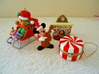 "Vintage Mixed Lot Of 4 Christmas Ornaments / Figurines "" GREAT COLLECTIBLE LOT """