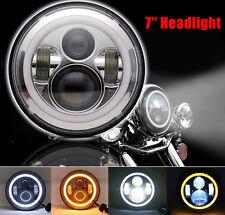 "7"" INCH LED Daymaker HeadLights Harley Davidson Touring Electra Glide"