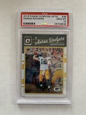 2016 Donruss Optic Aaron Rodgers PSA 10 Gem Mint Packers Base 1st Year Panini SP