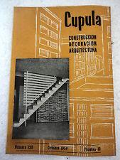 Revista Cupula num.120 Octubre.1959 Construccion,Decoracion,Arquitectura