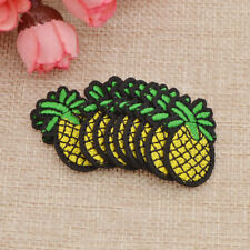 10 Pcs Embroidered Iron on Sew Patches Pineapple Badge Fabric Clothes DIY Craft