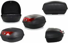 NEW EXTRA LARGE 52L MOTORCYCLE UNIVERSAL FITTING LUGGAGE TOP BOX FITS 2 HELMETS