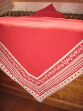 NAPPE CARRE VICHY  ROUGE  CAMPAGNE MONTAGNE COUNTRY CORNER 168x168 100% COTON
