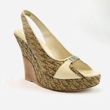 Christian Dior Diorissimo peep toe wedge Shoes Size 9 US 39 EU Made In Italy