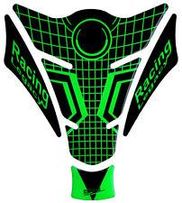 Tankpad 3d Neon grün Racing 501270 universell passender Motorrad Tankschutz