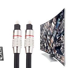 1,5m PLATINO Toslink cavo ottico audio CAVO DIGITALE SPINA FIBRA OTTICA