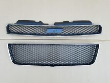 fits 2006-2009 IMPALA SS Upper & Lower Grille PAIR on Front Bumper NEW 2PCS