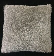 "SET OF 4 DARK GREY TEDY FAUX FUR CUSHION COVERS 17""X17 UK MADE SUEDE BACKI"