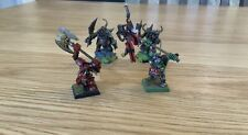 WARHAMMER ORCS AND GOBLINS 4 x WARBOSSHERO, well painted
