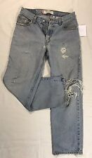 4FadedJeans #1 LEVIS: DISTRESSED - RIPPED 550 RELAXED FIT JEANS SIZE 29x30