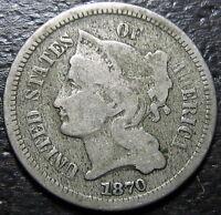 1870 3 Cent Nickel Piece  --  MAKE US AN OFFER!  #R4303
