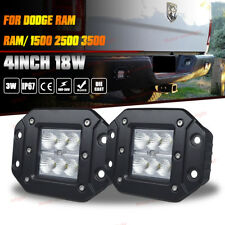 Dodge Ram 1500/2500/3500 Flush Mount Flood Backup Reverse Rear Bumper Led Lights