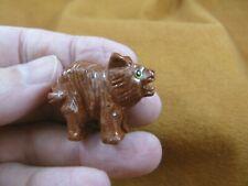 (Y-Tas-De-14) little red tan Tasmanian Devil marsupial figurine Soapstone Peru