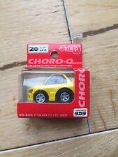 Coche de juguete japonés Choro Q. 2004. Mitsubishi Evo VII amarillo
