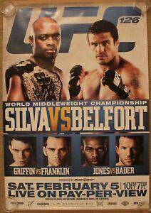 Official UFC 126 Anderson Silva vs Belfort Poster 27x39 (Near Mint)