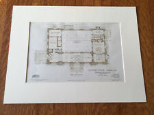 Us Post Office, Nashua, Nh, Floor Plans, 1905, Original Plan Hand-colored