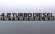 2 x 4.2 Turbo diesel Intercooled 500x65mm patrol gu 4x4 Sticker Australian made