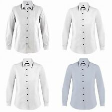 Long Sleeve Fitted Formal Tops & Shirts for Women