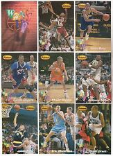 Lot of 10 1994-95 Ted Williams Co. What's Up 9 Card Insert Sets w/ Jason Kidd