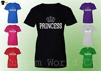 Princess T Shirt - Women Tee Crown Princess His and Hers Couple Princess Shirt