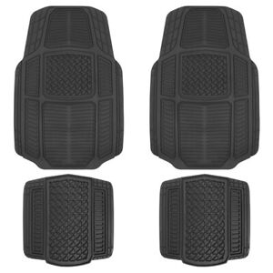 ACDelco All-Weather Car Floor Mats Front w/ Rear Liners (Black, 4 PC)