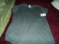 Ladies size Large Gray Gildan heavy cotton tee~  New w/ tags ~ short sleeves