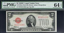 $2 1928D Lt Mule Note. Fr. 1505m. Pmg 64 Epq. Super Tough and Rare. Ba Block.