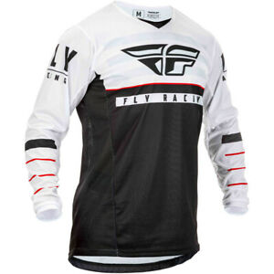 FLY RACING 2020 KINETIC K120 BLACK/WHITE/RED MOTORCYCLE JERSEY LARGE