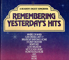 Reader's Digest Songbook - Remembering Yesterdays Hits (Hardcover - Sheet Music)