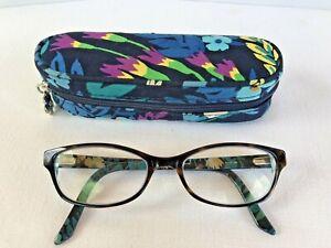 VERA BRADLEY 51-17-140 MIDNIGHT BLUES Eyeglasses Frames & Matching Case  NICE