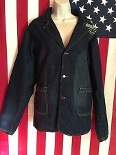 Women's G Unit Built To Last Blue Denim Long Sleeve Jacket Size XL