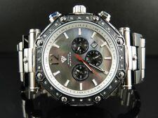Mens Aqua Master Black MOP Dial 2 Tone 45MM Diamond Watch W#147-89-15 0.24 Ct