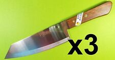 3 x KIWI BRAND Stainless Steel pointed knife wood handle100% Brand New No. 173