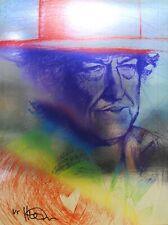 "New listing Ike Moody, ""Bob Dylan"" 1/5, 12.25""x16.5"", Signed, Metallic, Portrait, Pop Art"
