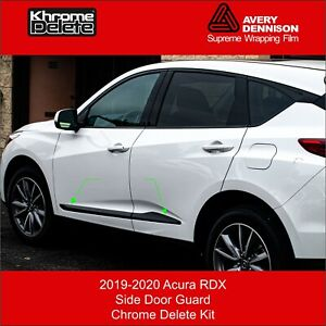 Chrome Delete Kit fitting the 2019-2020 Acura RDX Side Door Protectors