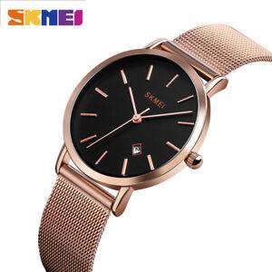 SKMEI Fashion Casual Women Quartz Wrist Watch Stainless Steel Minimalism 1530 9
