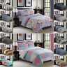 Flannelette Duvet Cover 100% Cotton Bedding Set With Pillowcases & Fitted Sheet