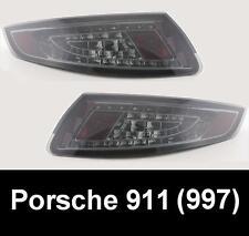 PORSCHE 911 (997) SMOKED BLACK LED REAR TAIL LIGHTS LAMPS - UK SELLER