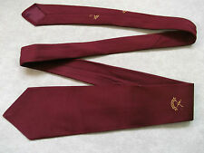 VINTAGE BURGUNDY GOLF EMBLEM CLUB TIE 1960'S 70'S + L.E.E.G.S. + LEEGS LOGO