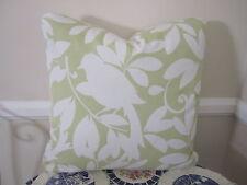 "18"" Pillow Waverly Birdsong Pistachio Green & White Love Birds Cottage Garden"
