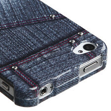 Black Jeans w/Stud Snap-On Hard Case Cover Accessory for Apple iPhone 4 4S