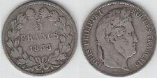 gertbrolen 5 FRANCS Argent  Louis-Philippe 1833   BORDEAUX   Exemplaire N° 2