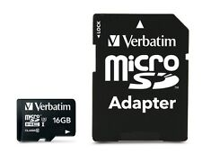 16GB Verbatim Pro microSDHC UHS-1 CL10 Memory Card